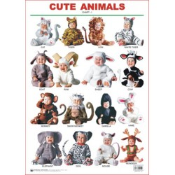 Educational Charts Series: Cute Animals Chart-1